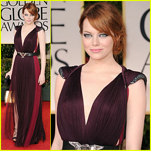 Emma Stone - Golden Globes 2012 Red Carpet