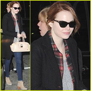 Emma Stone Jets Out of JFK