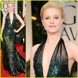 Evan Rachel Wood - Golden Globes 2012 Red Carpet