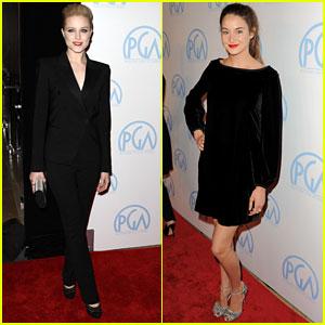Evan Rachel Wood & Shailene Woodley: Producers Guild Awards!