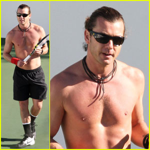 Gavin Rossdale: Shirtless Tennis Player!