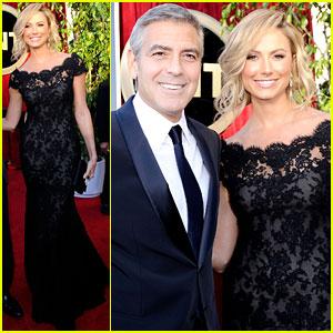 George Clooney & Stacy Keibler - SAG Awards 2012 Red Carpet