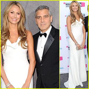 George Clooney & Stacy Keibler - Critics' Choice Awards 2012