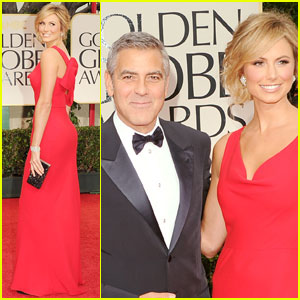 George Clooney: Golden Globes with Stacy Keibler!