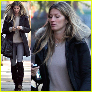 Gisele Bundchen: Back in Boston After Visit to Africa