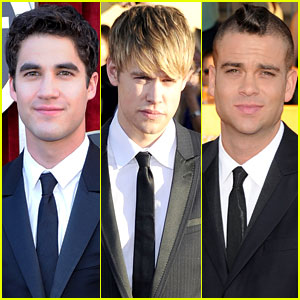 Darren Criss & Chord Overstreet - SAG Awards 2012 Red Carpet