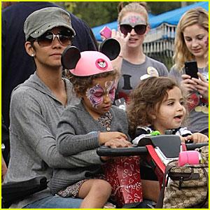 Halle Berry: Disneyland with Nahla & Olivier!