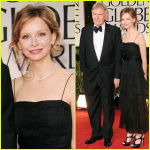 Harrison Ford & Calista Flockheart - Golden Globes 2012 Red Carpet