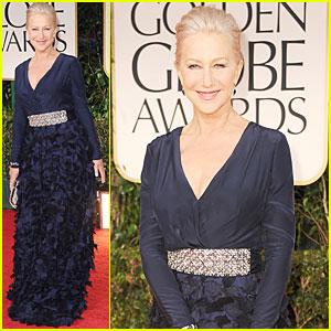 Helen Mirren - Golden Globes 2012 Red Carpet