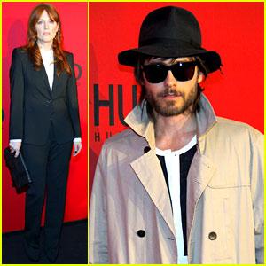Jared Leto & Julianne Moore: Berlin Fashion Week!