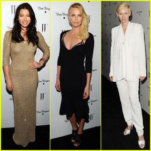 Jessica Biel & Charlize Theron: 'W' Women!
