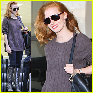 Jessica Chastain Lands at LAX
