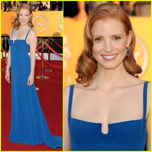 Jessica Chastain - SAG Awards 2012 Red Carpet
