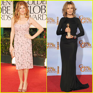 Jessica Lange &#038; Connie Britton - Golden Globes 2012 Red Carpet