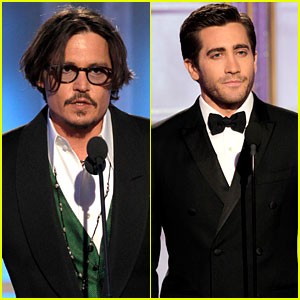 Johnny Depp & Jake Gyllenhaal: Golden Globe Presenters!