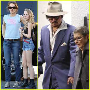 Johnny Depp: New Year's with Vanessa Paradis & the Kids!