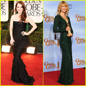 Julianne Moore & Laura Dern - Golden Globes 2012 Red Carpet