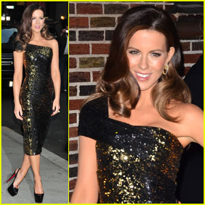 Kate Beckinsale: 'Letterman' & 'Live With Kelly'!