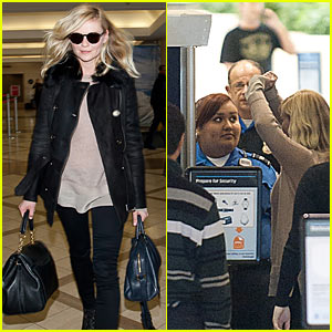 Kirsten Dunst: Airport Security Check!