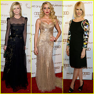 Kirsten Dunst & January Jones: Art of Elysium Gala!