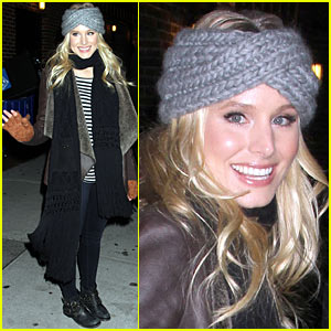 Kristen Bell: 'Late Show' in NYC!