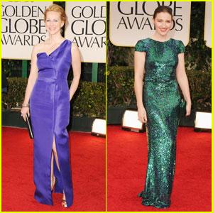 Laura Linney & Kelly MacDonald - Golden Globes 2012 Red Carpet