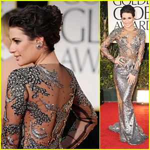 Lea Michele - Golden Globes 2012 Red Carpet