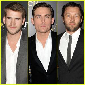 Liam Hemsworth & Kevin Zegers: Australian Academy Awards!