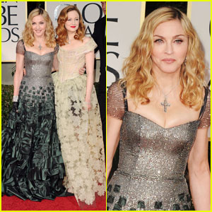 Madonna & Andrea Riseborough - Golden Globes 2012 Red Carpet