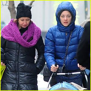 Marion Cotillard & Marcel Stroll Around Manhattan