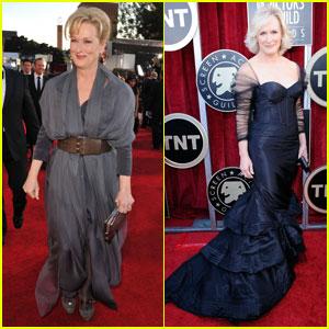 Meryl Streep & Glenn Close - SAG Awards 2012 Red Carpet