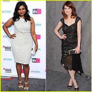 Mindy Kaling & Ellie Kemper - Critics' Choice Awards 2012