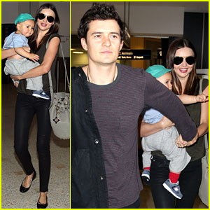 Miranda Kerr & Orlando Bloom: Flyin' with Flynn!