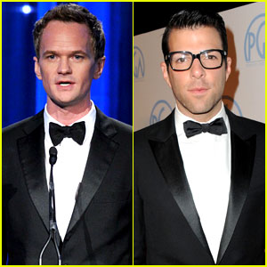 Neil Patrick Harris & Zachary Quinto: Producers Guild Guys!