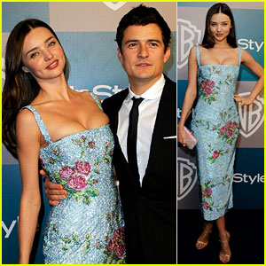 Miranda Kerr & Orlando Bloom: Golden Globes After Party Pair!