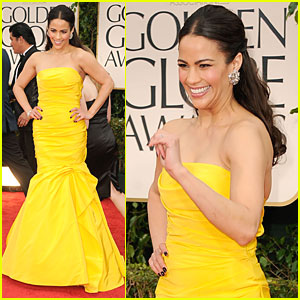 Paula Patton - Golden Globes 2012 Red Carpet