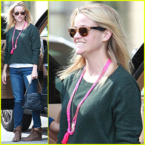 Reese Witherspoon Visits Jim Toth at Work