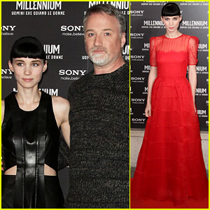 Rooney Mara Premieres 'Dragon Tattoo' in Rome!