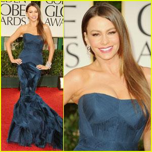 Sofia Vergara - Golden Globes 2012 Red Carpet
