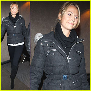 Stacy Keibler Lands at LAX