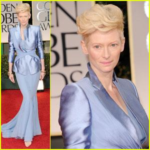 Tilda Swinton - Golden Globes 2012 Red Carpet