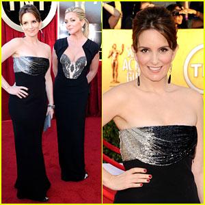 Tina Fey & Jane Krakowski - SAG Awards 2012 Red Carpet