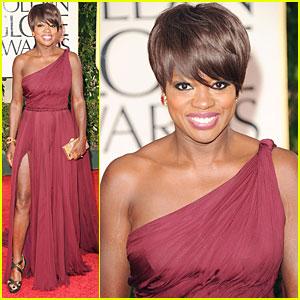 Viola Davis - Golden Globes 2012 Red Carpet