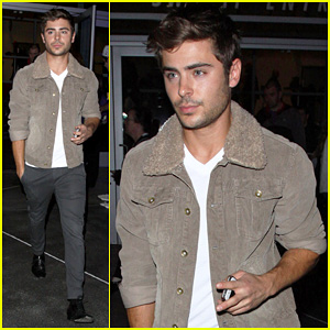 Zac Efron: Lakers Game Night!