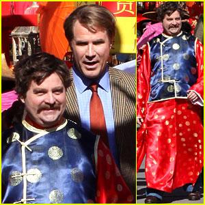 Zach Galifianakis & Will Ferrell: 'Dog Fight' in Chinatown!