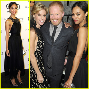 Zoe Saldana: Audi 2012 Golden Globe Kick Off Party!