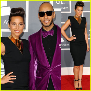 Alicia Keys - Grammys 2012 Red Carpet With Swizz Beatz