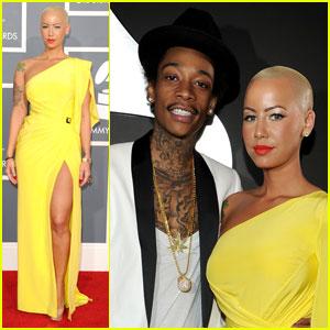 Amber Rose & Wiz Khalifa - Grammys 2012 Red Carpet