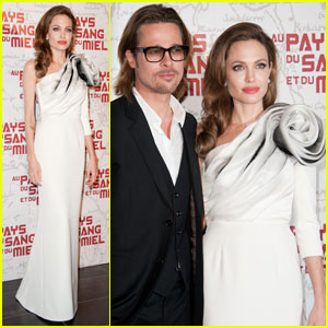 Angelina Jolie & Brad Pitt: 'Blood & Honey' Paris Premiere!