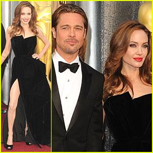 Brad Pitt & Angelina Jolie - Oscars 2012 Red Carpet
